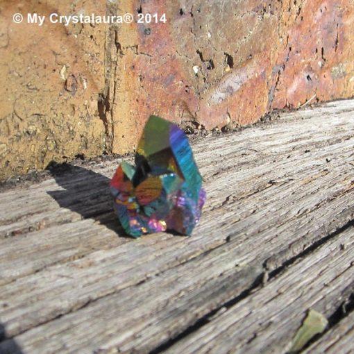 Rainbow Aura Quartz Cluster