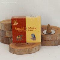 Sandal & Musk Incense Cones