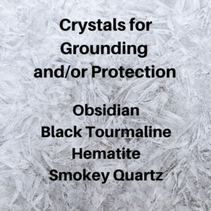 Crystals for Grounding and/or Protection