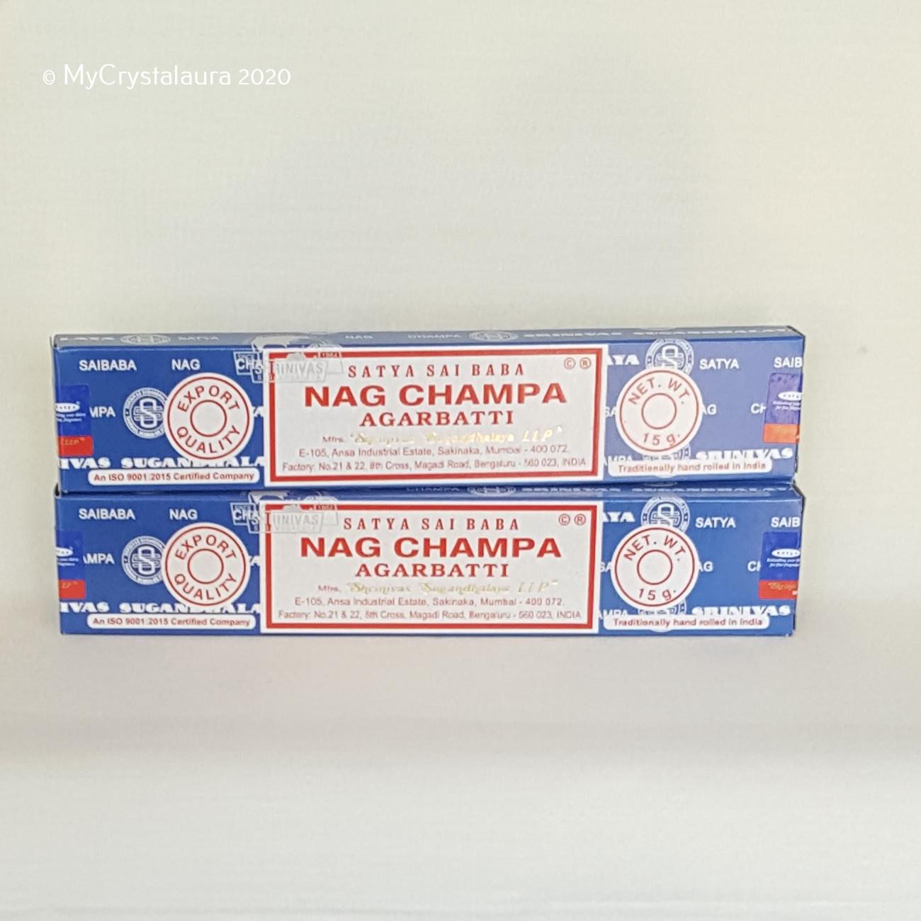 Nag Champa Incense Sticks Satya Sai Baba My Crystalaura
