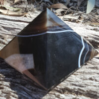 Black Agate Pyramid