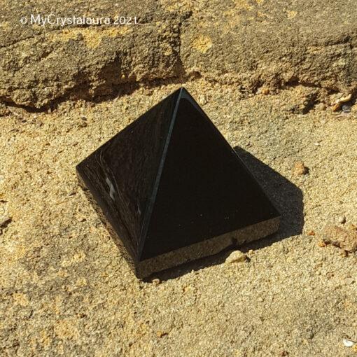 Black Obsidian Pyramid